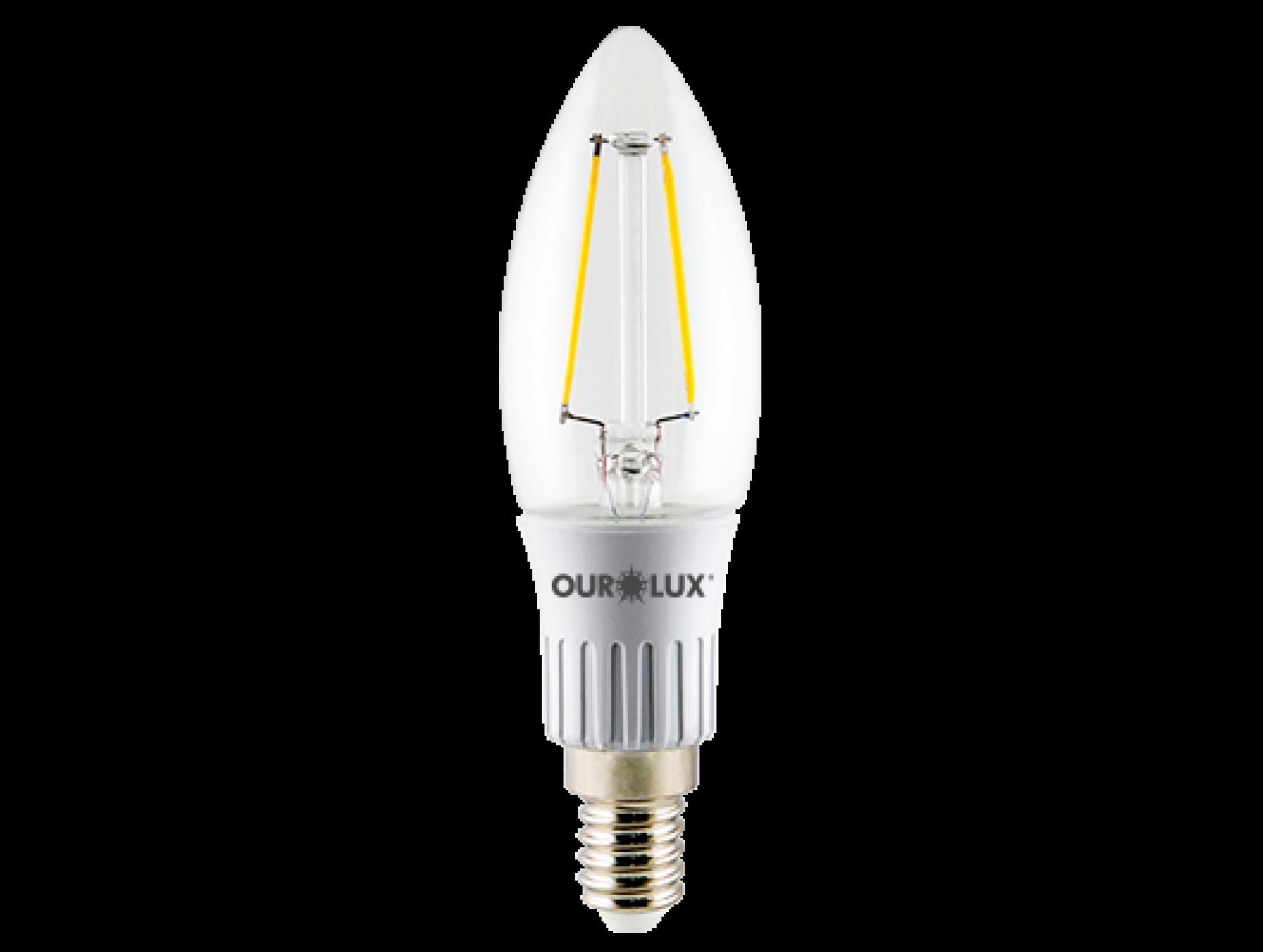 LAMPADA LED VELA 3W E14  6.5K CLARA OUROLUX