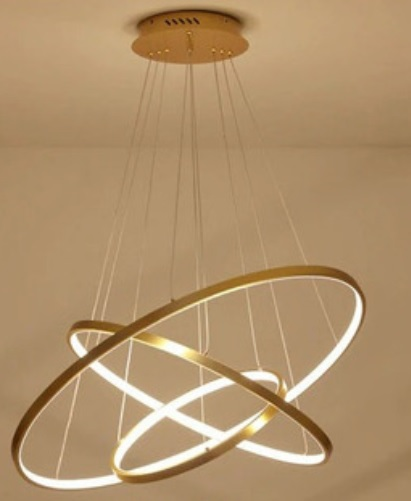 LUSTRE LED 7299 DOURADO BRILED