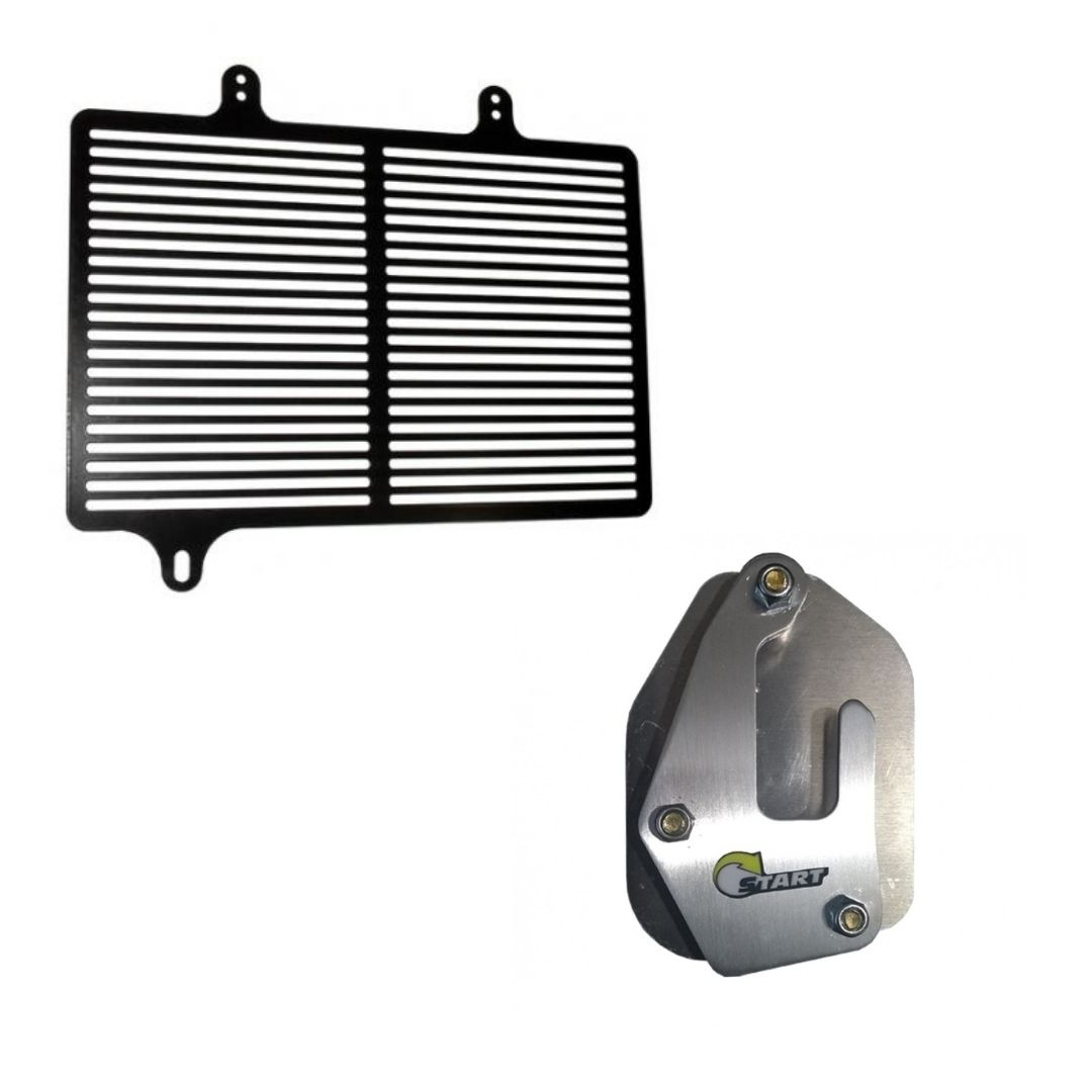 KIT A Protetor de radiador + Ampliador de Base V Strom 650