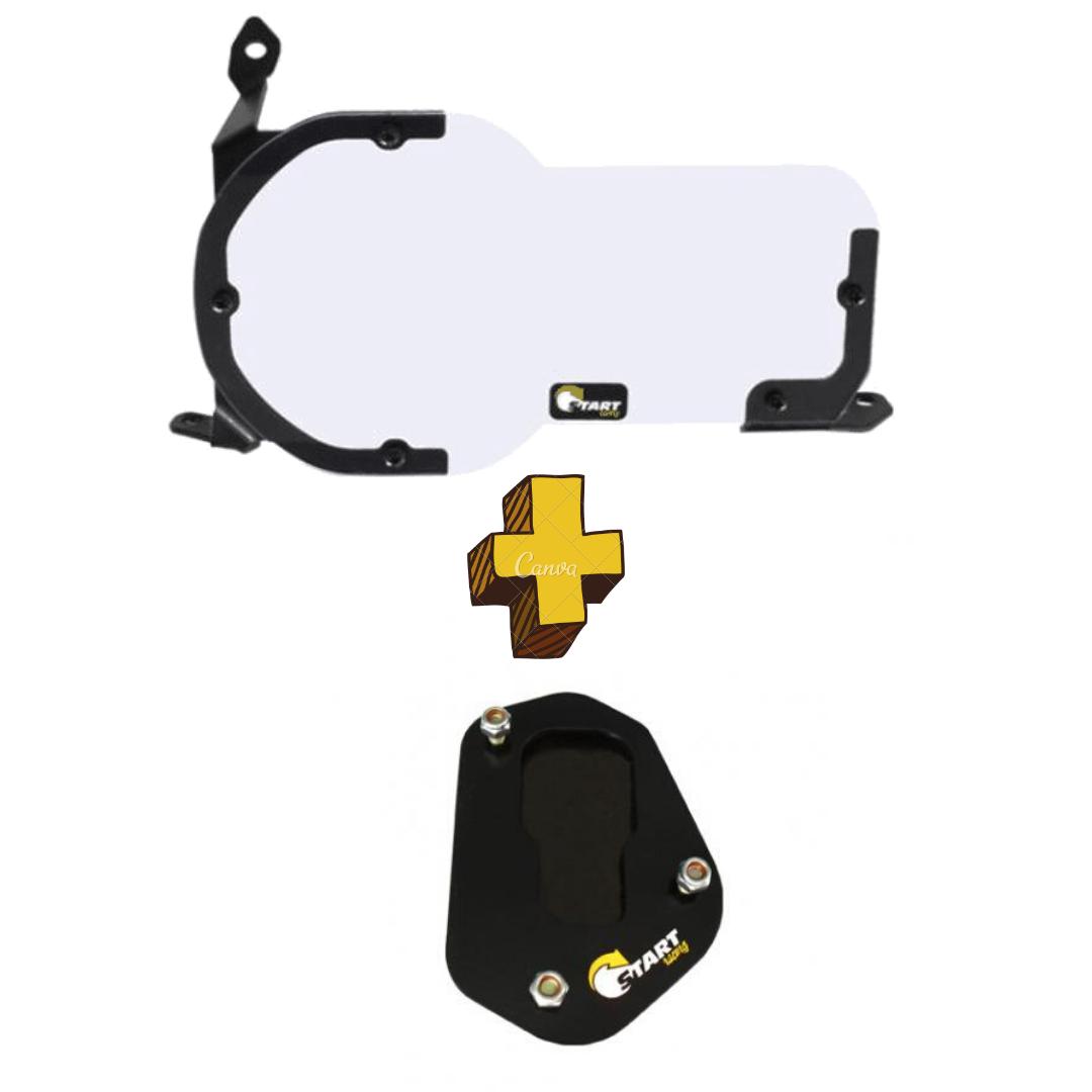 KIT A - Protetor De Farol + Ampliador De Base Bmw R1200 R1250