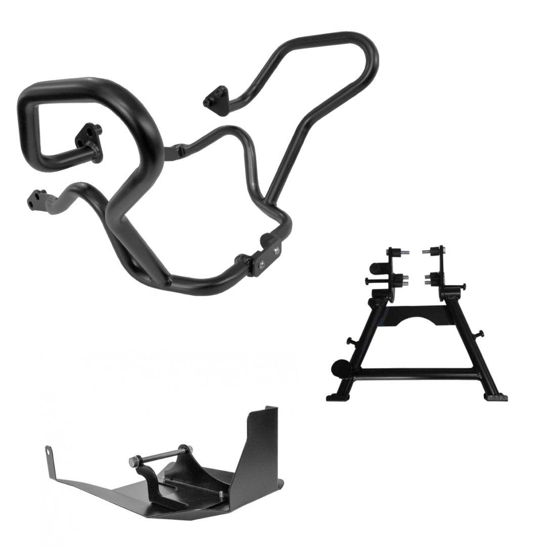 Kit para V Strom 650 Cavalete + Protetor de motor e cárter