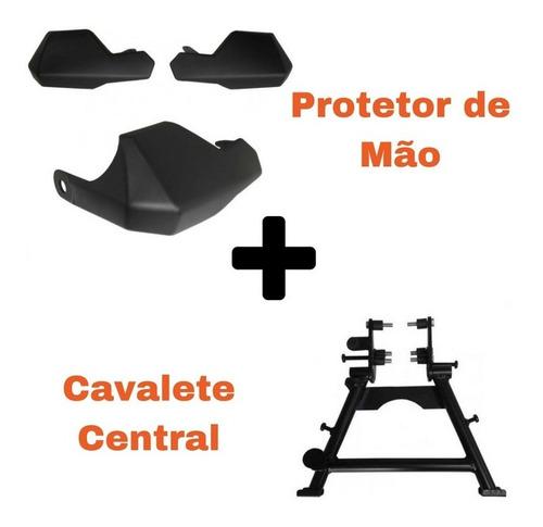 S275+S055 Cavalete Central + Protetor De Mão V Strom 650