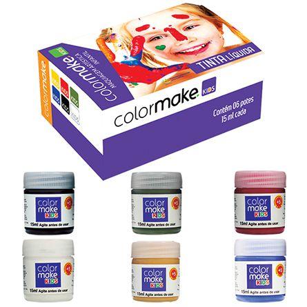 Tinta Líquida Kids com 6 cores