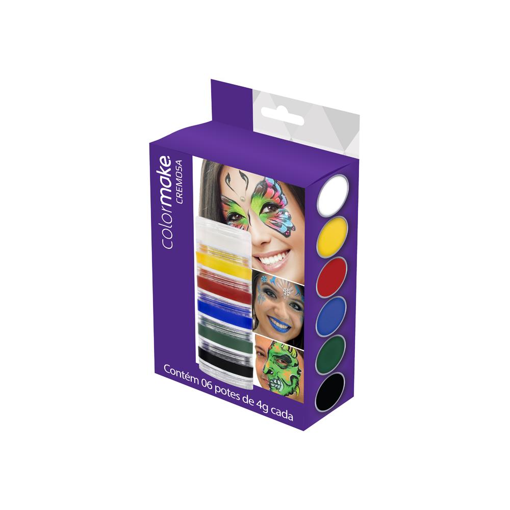 Cartela Cremosa com 6 cores