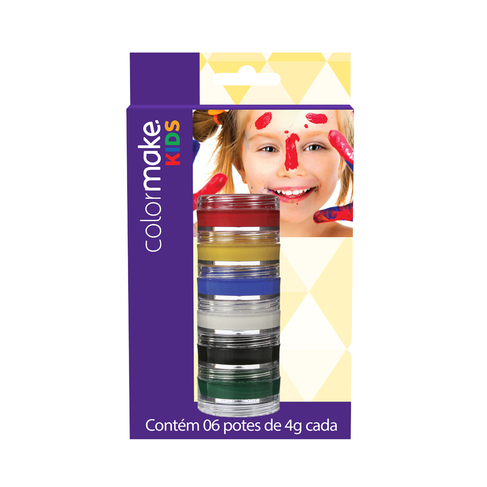 Cartela Cremosa Kids com 6 cores