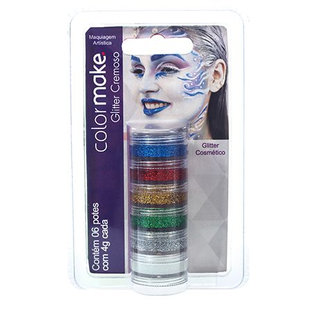 Cartela Glitter Cremoso com 6 cores