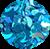 Meia Lua Azul Turquesa