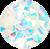 Diamante 3D Perola Azul