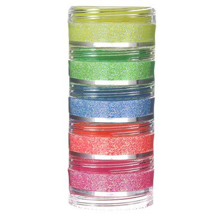 Kit Glitter Neon Iridescente - 5 cores