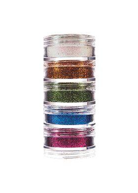 Kit Glitter Pó - 5 cores