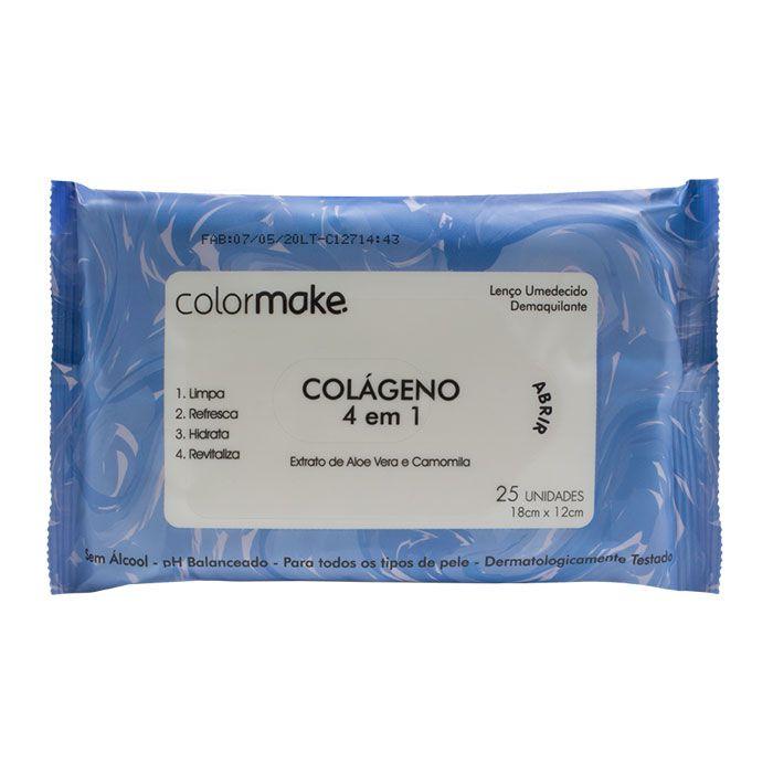 Lenço Umedecido Demaquilante - Colágeno 4 em 1