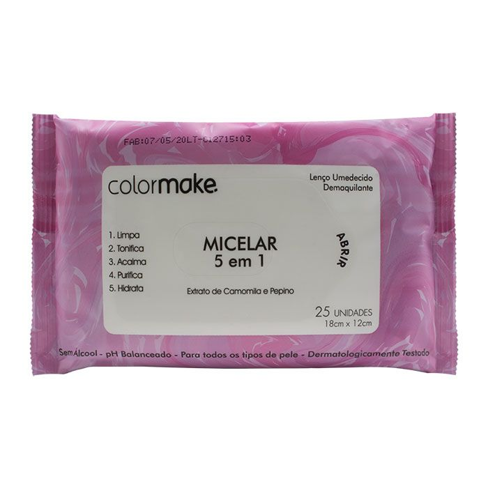Lenço Umedecido Demaquilante - Micelar 5 em 1