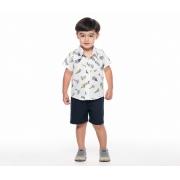 Conjunto Camisa Barquinho em Linho