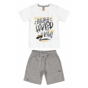 Conjunto Camiseta e Bermuda Hip Hop