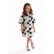 Vestido Manga Curta em Cotton