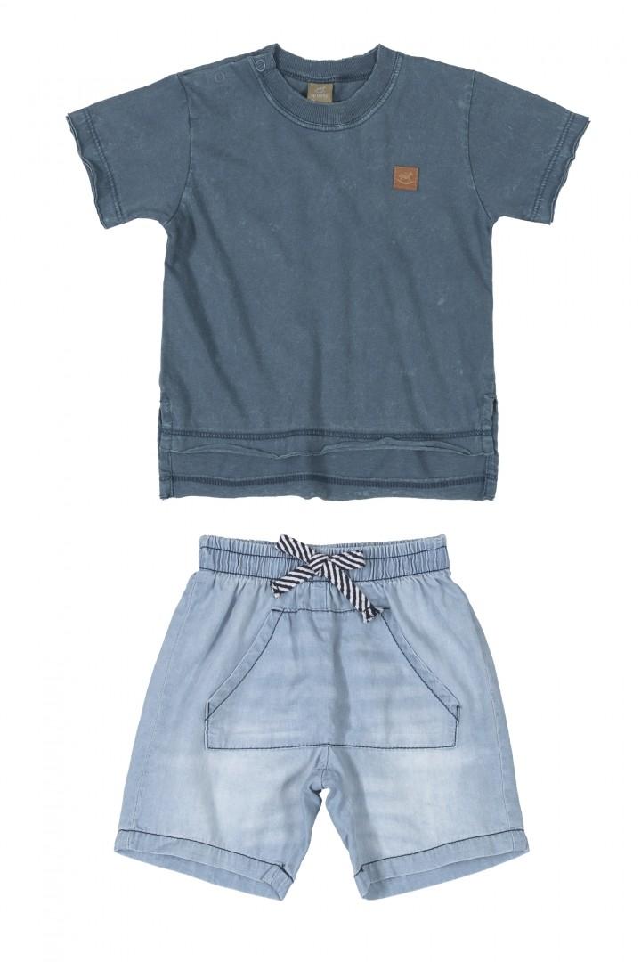 Conjunto Básico Jeans Masculino 120842788