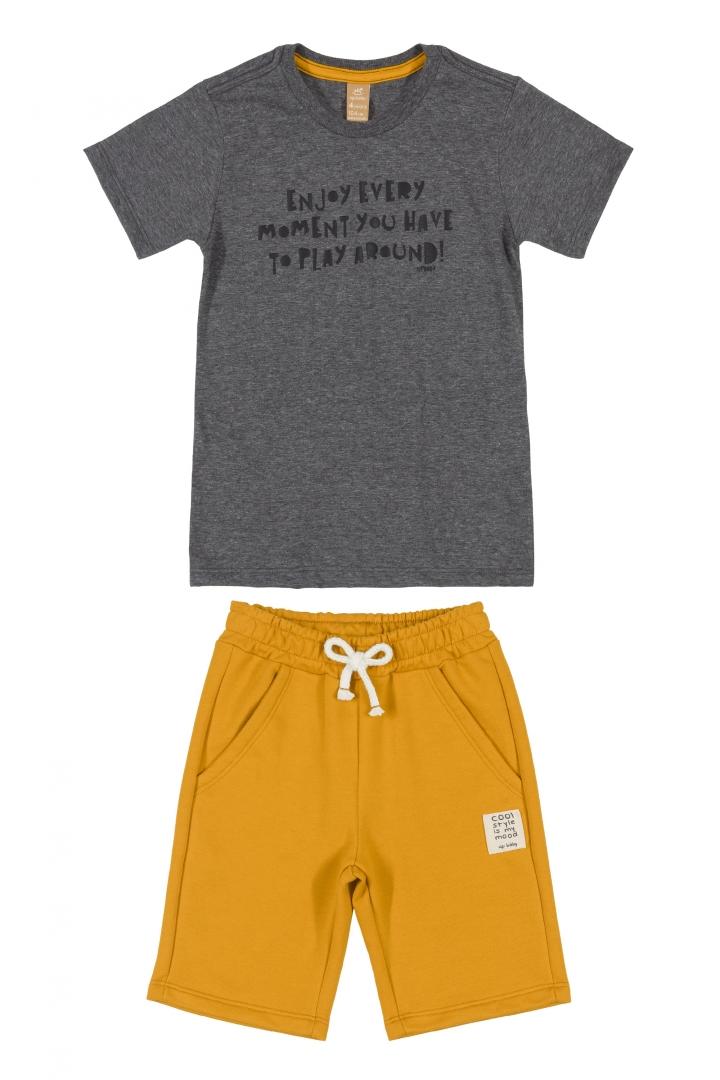 Conjunto Camiseta de Malha e Bermuda Enjoy