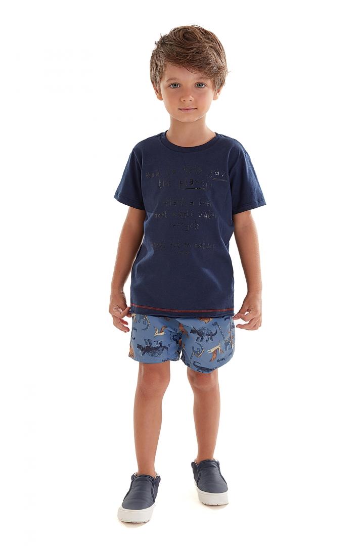 Conjunto Camiseta de Malha e Bermuda Microfibra 43236