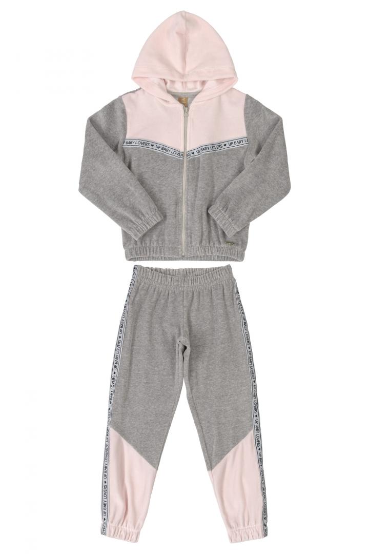 Conjunto Jaqueta e Calça em Plush