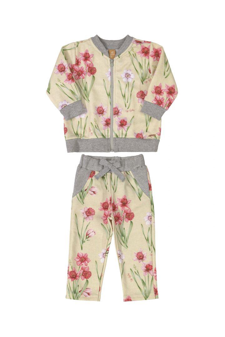 Conjunto Jaqueta Floral