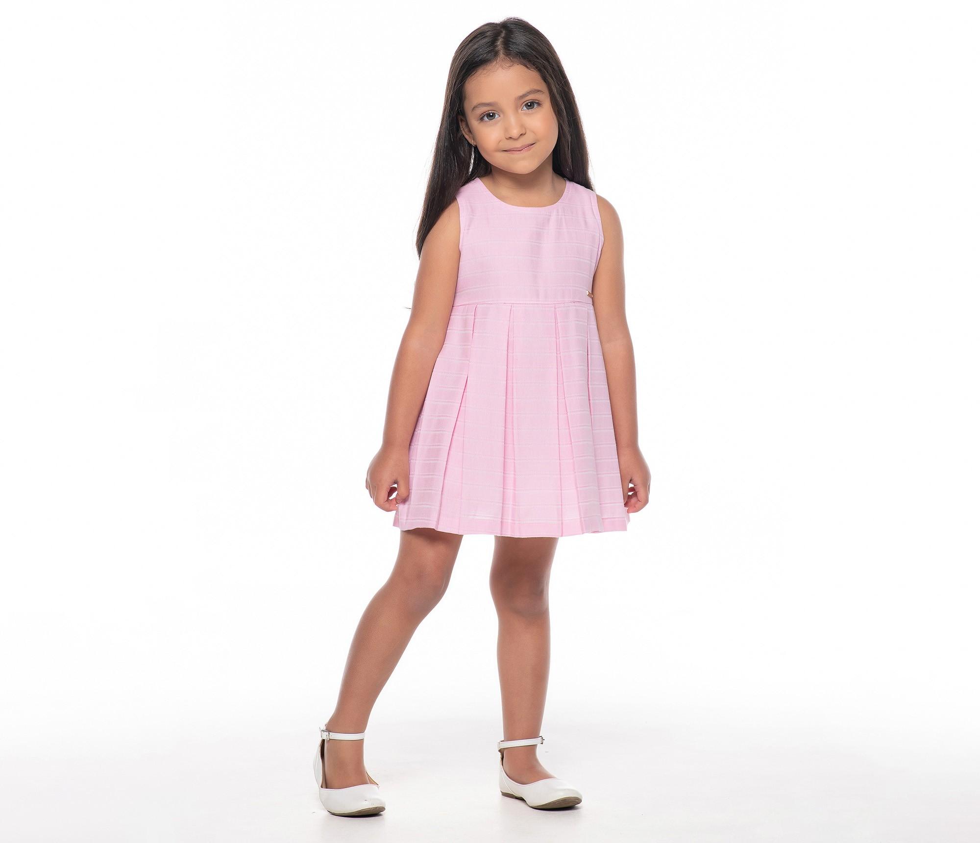 Vestido Algodão Rosa c/ Amarração 305605