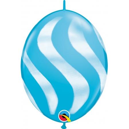 BALÃO 12 POLEGADAS Q-LINK LISTRAS ONDULADAS BRANCAS - PC 50 QUALATEX #28092