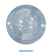 BALÃO AQUA BALLOONS - CLEAR - 470MM - PACOTE COM 10 - QUALATEX #12041