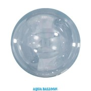 BALÃO AQUA BALLOONS - UNITÁRIO - CLEAR - 70MM - QUALATEX #12034U