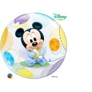 BALÃO BUBBLE BEBÊ MICKEY MOUSE DA DISNEY - 22 POLEGADAS  - QUALATEX #16432