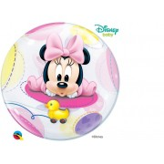 BALÃO BUBBLE BEBÊ MINNIE MOUSE DA DISNEY - 22 POLEGADAS  - QUALATEX #16430