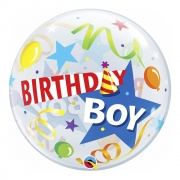 BALÃO BUBBLE BIRTHDAY BOY PARTY HAT - 22 POLEGADAS  - QUALATEX #27510