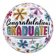 BALÃO BUBBLE CONGRATULATIONS GRADUATE  - 22 POLEGADAS  - QUALATEX #47364