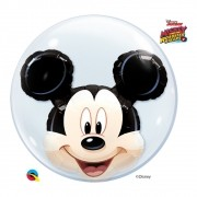 BALÃO BUBBLE DUPLO MICKEY E SEUS AMIGOS DA DISNEY - 24 POLEGADAS  - QUALATEX #27569