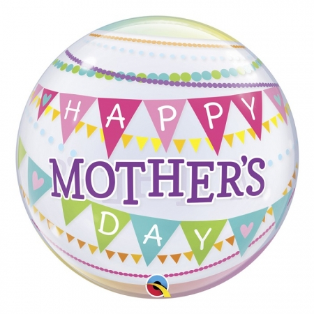 BALÃO BUBBLE MOTHER'S DAY PENNANTS - 22 POLEGADAS  - QUALATEX #55799