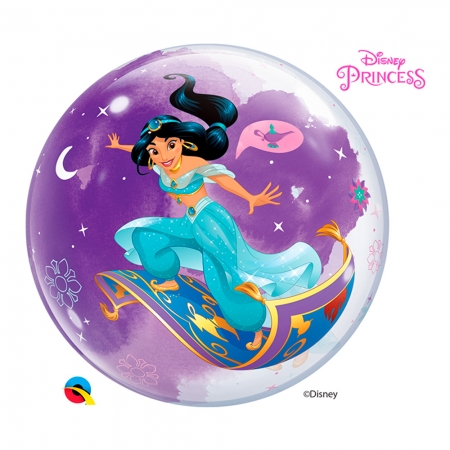 BALÃO BUBBLE PRINCESA JASMINE DA DISNEY - 22 POLEGADAS  - QUALATEX #87533