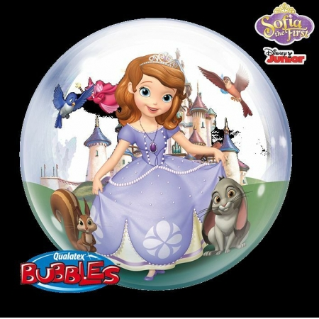 BALÃO BUBBLE PRINCESA SOFIA  - 22 POLEGADAS - QUALATEX #65577