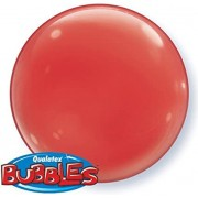 BALÃO BUBBLE SOLID COLOR RED PC 4UN - 15 POLEGADAS  - QUALATEX #21334