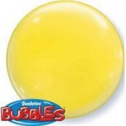 BALÃO BUBBLE SOLID COLOR YELLOW PC 4UN - 15 POLEGADAS  - QUALATEX #21335