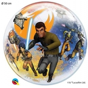 BALÃO BUBBLE STAR WARS REBELS 22 POLEGADAS QUALATEX #10589