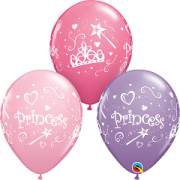 BALÃO DE LÁTEX 11 POLEGADAS SORTIDO PRINCESAS PC 06 -  QUALATEX #18305
