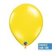BALÃO DE LÁTEX AMARELO CITRINO 5 POLEGADAS - PC 100UN - QUALATEX #43551