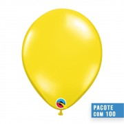 BALÃO DE LÁTEX AMARELO CITRINO 9 POLEGADAS - PC 100UN - QUALATEX #43678