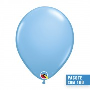 BALÃO DE LÁTEX AZUL CLARO 5 POLEGADAS - PC 100UN - QUALATEX #43571