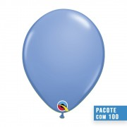 BALÃO DE LÁTEX AZUL LAVANDA 11 POLEGADAS - PC 100UN - QUALATEX #48957