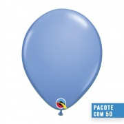 BALÃO DE LÁTEX AZUL LAVANDA 16 POLEGADAS - PC 50UN - QUALATEX #78223
