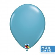 BALÃO DE LÁTEX AZUL PETRÓLEO TROPICAL 11 POLEGADAS - PC 100UN - QUALATEX #43799