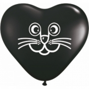 BALÃO DE LÁTEX CAT FACE 5 POLEGADAS - PC 100UN - QUALATEX #69765