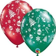 BALÃO DE LÁTEX - CHRISTMANS  TRIMMINGS - 11 POLEGADAS - SORTIDOS - UNITÁRIO - QUALATEX  #40559U