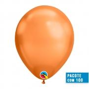 BALÃO DE LÁTEX COBRE CHROME 11 POLEGADAS - PC 100UN - QUALATEX #12977