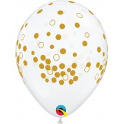 BALÃO DE LÁTEX CONFETTI DOTS 11 POLEGADAS - PC 50UN - QUALATEX #55450